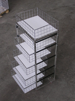 carrello cassettiera in acciaio inox con cassetti aperti