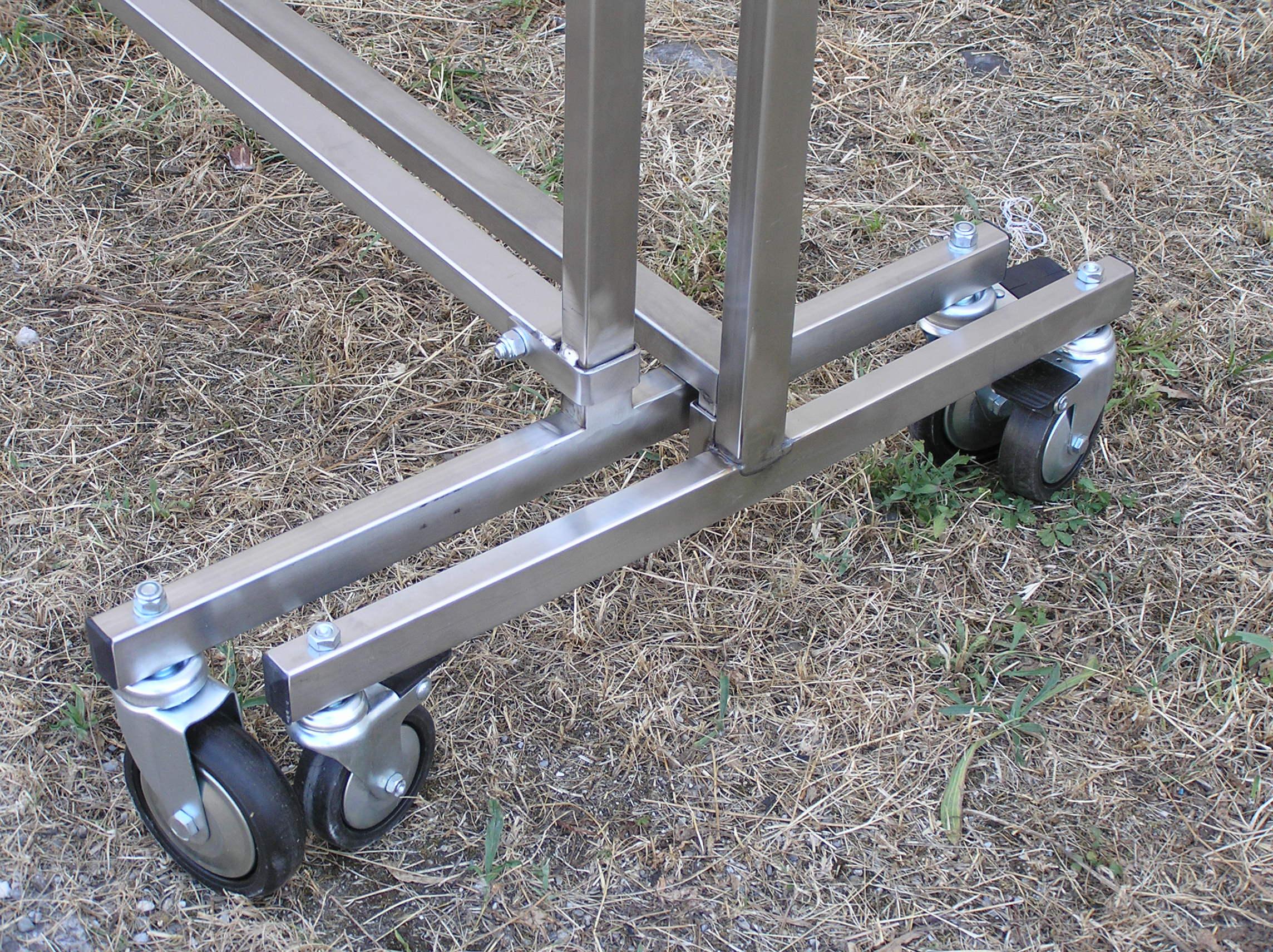 Stender porta abiti in acciaio inox impilabili - poco ingombro